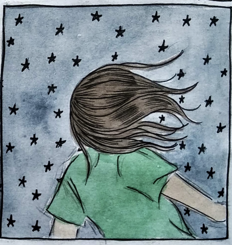 Panel from Hannah Potter's The Flight